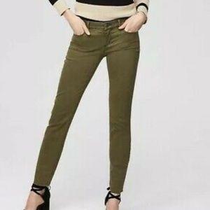 Loft Olive Green Modern Skinny Crop Jeans